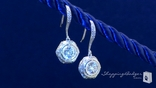 Sterling Silver Diamond Cubic Zirconia Earrings