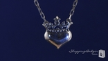 "RockLove Queen of Hearts Sterling Silver Necklace, 16"" or 18"""