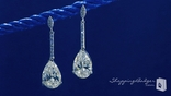 Sterling Silver Pear Drop CZ Earrings
