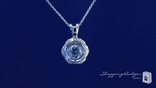"Antique Style Round Solitaire CZ Necklace in Sterling Silver, Adjustable 16""-18"""