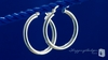 Sterling Silver 3mm x 25mm Tube Hoop Earrings - Free Shipping|ShoppingBadger.com
