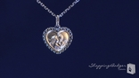 Phillip Gavriel 18K Gold Angel Heart Sterling Silver Necklace, 18""
