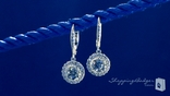 Round Solitaire CZ Leverback Earrings in Sterling Silver