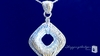 Woven Gold CZ Drop Pendant Necklace in Sterling Silver, 16