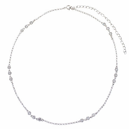 CZ Triplet by the Yard Necklace