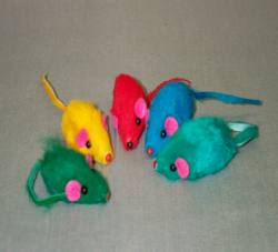 "2"" Short Hair Color Mouse 5/pk"