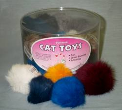 "2"" Furry Ball-Asst. Colors 36pcs."