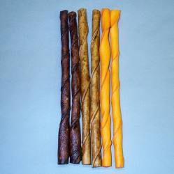 "10"" Flavored Rawhide Sticks 6/pk"