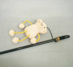 Wand w/ Asst. String Animals & Bell
