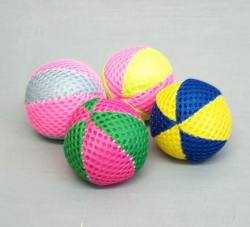 "1.5"" Nylon Beach Balls - Asst Color 4/pk"