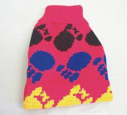 "14"" Red Fancy Paw Knit Sweater"