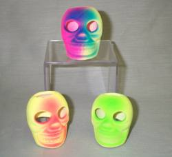 "2.75"" Flourescent Hot Color Skull"