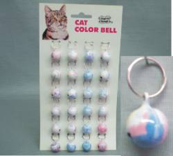 Medium Colored Cat Bells  24/cd