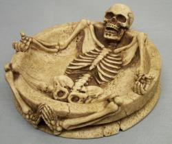Skeleton in Bottom of Dish