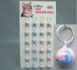 Small Colored Cat Bells  24/cd