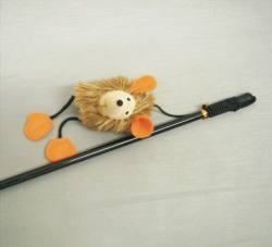 Wand w/ Funny Face Catnip Mouse w/ Squeaker