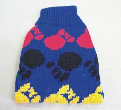 "8"" Blue Fancy Paw Knit Sweater"