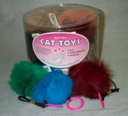 "3"" Furry Balls-Asst. Colors 24pcs."