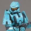 H3 S5 MMK MOC Spartan Soldier Scout (Cyan) (Equipment Edition)