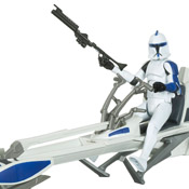 SW TCW DLX MISB Clone Trooper and BARC Speeder Bike