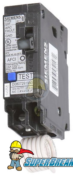 Q115AF Arc Fault Plug-In Circuit Breaker | Siemens