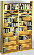 Leslie Dame CD-1000 Audio Video Storage Rack - Oak Laminate Finish