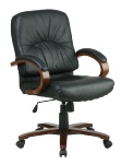 Leather Mid Back Office Chair -  WD5671