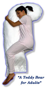 Snoozer Full Body Maternity Pillow in White European Natural Goose Down