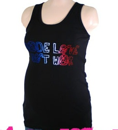 Made Love Not War Maternity Tank
