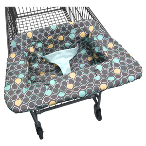 Aqua Drops Shopping Cart Cover