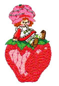 24 Strawberry Shortcake Machine Embroidery Designs