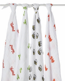 aden + anais Mod About Baby Cotton Muslin Swaddle Blankets, 4-Pack