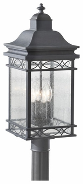 Feiss OL8008FOG Liberty Large Exterior Pier/Post Mount Lantern