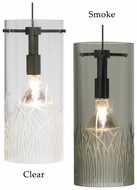 LBL HS604 Mini-Springview Glass Cylinder Drum Modern Hanging Light Fixture