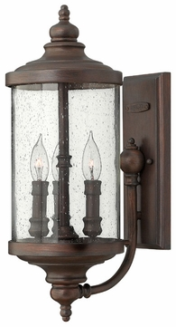 Hinkley 1750VZ Barrington Transitional Bronze Outdoor Lantern Wall Sconce
