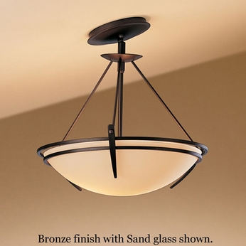 Hubbardton Forge 12-4424 Presidio Tryne Semi-Flush Sloped Ceiling Light