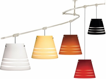 Tech TT-SERENGETI T-Trak Serengeti Glass Line-Voltage Pendant Light with Fluorescent Option