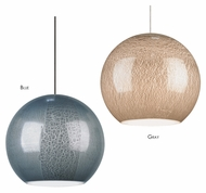 LBL Zollo Crackled Glass 6 Inch Diameter Modern Mini Lighting Pendant