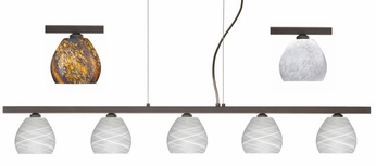 Besa Tay Tay Linear 5-light Kitchen Island Pendant Light