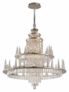 Corbett 170-012 Illusion 60 Lamp Silver Leaf 46 Inch Diameter Dining Chandelier - Extra Large