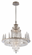 Corbett 170-08 Illusion 29 Inch Diameter Medium 28 Lamp Hanging Chandelier - Silver Leaf