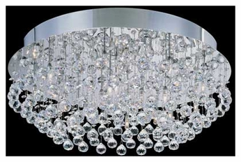 Lite Source LS5582 Krysztal Round Flush Mount Ceiling Light