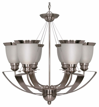 Nuvo 60500 Palladium ES 6-Lamp Chandelier