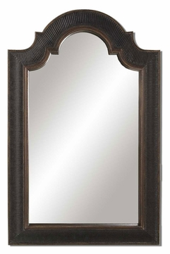 Uttermost 01760-P Ribbed Arch 45 Inch Tall Antique Black Wall Mirror