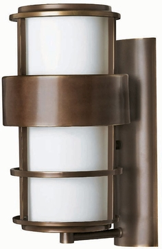 Hinkley 1904-MT-EST Saturn 16 inch outdoor fluorescent wall sconce in Metor Bronze