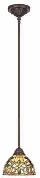 Quoizel TFKM1508VB Kami 47 Inch Tall Rod Hanging Tiffany Mini Pendant