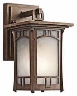 Kichler 49449AGZ Soria Craftsman 10 Inch Tall Small Outdoor Wall Lighting - Aged Bronze