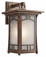 Kichler 49451AGZ Soria Aged Bronze Finsih Large Craftsman 15 Inch Tall Exterior Lighting Sconce