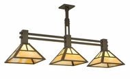 Meyda Tiffany 132896 3 Lamp 48 Inch Wide Craftsman Island Light Fixture