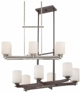 Quoizel TY628 Taylor 28 Inch Long Small 6 Lamp Modern Kitchen Island Light Fixture